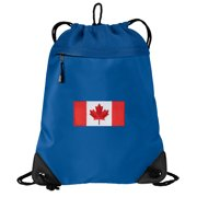 Canada Flag Cinch Backpack Canada Drawstring Bag String Pack Mesh    Microfiber - Two Sections d944c3094