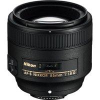 Nikon AF-S NIKKOR 85mm f/1.8G Lens - Black