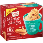 (6 Pack) Duncan Hines Perfect Size for One Funtastic S'mores Cake Mix 4-2.4 oz Box