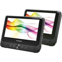 """Sylvania SDVD9805 9"""" Dual-Screen Dual-DVD Portable DVD Player"""