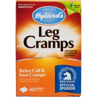 Hyland's Leg Cramp Caplets, Natural Calf, Leg and Foot Cramp Relief, #1 Pharmacist Recommended Leg Cramp Relief, 40 Count