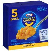 (3 Pack) Kraft Original Flavor Macaroni & Cheese Dinner, 5 x 7.25 oz Boxes