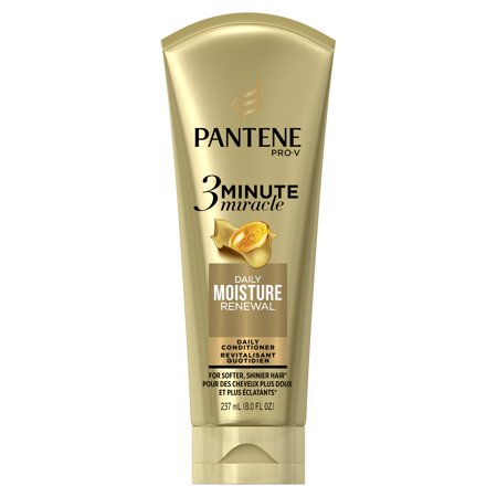 Pantene Daily Moisture Renewal 3 Minute Miracle Daily Conditioner, 8.0 fl oz California Daily Moisturizing Conditioner