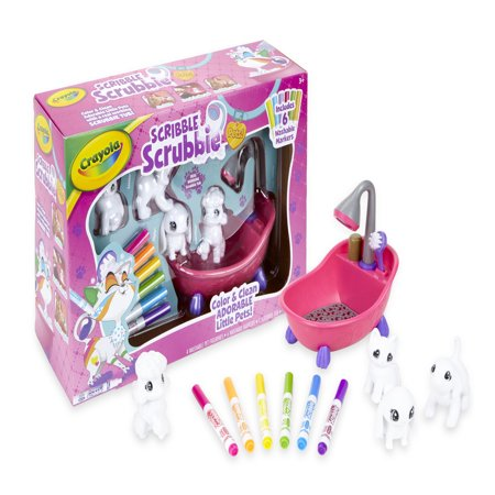 Crayola Scribble Scrubbie Toy Pet Playset: Gift for Kids Age 6,7,8,9 - Walmart.com