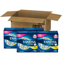 Tampax Pearl Regular Plastic Tampons, Unscented (Choose Count)