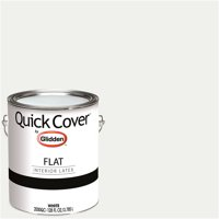Glidden Quick Cover, Interior Paint, Flat Finish, White, 1 Gallon