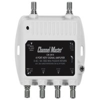Channel Master 3414 4-Port RF Signal Distribution Amplifier