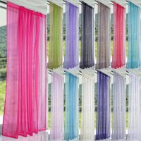 Sheer Curtain Panels, Voile Curtains Scarf Draperies Window Treatment for Living Room/Patio/Villa/Parlor/Sliding Door