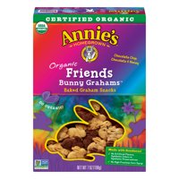 (2 Pack) Annie's Organic Friends Bunny Grahams Snacks Baked Graham Snacks, 7 oz