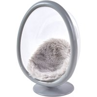 "My Life As Mini Egg Chair with Faux Fur Cushion, Gray, for 7"" Dolls"