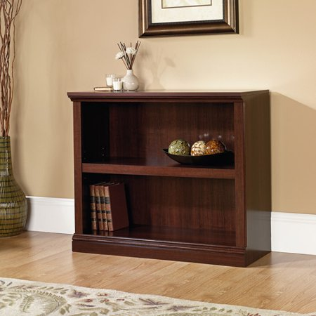- (Set of 2) Sauder Select 2 Shelf Bookcase, Select Cherry Finish