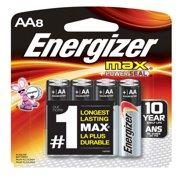 Energizer MAX Alkaline, AA Batteries, 8 Pack