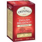 (4 Boxes) Twinings of London Decaffeinated English Breakfast 20 ct Tea Bags 1.41 oz Box