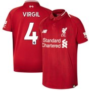 771d5f694a7 Virgil Van Dijk Liverpool New Balance Youth 2018 19 Home Replica Player  Jersey - Red