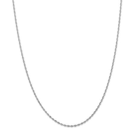 10kt White Gold 1.84mm D/C Quadruple Rope Chain