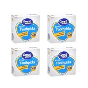 (4 Pack) Great Value Round Toothpicks, 500 count