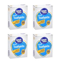 (5 Pack) Great Value Round Toothpicks, 500 count