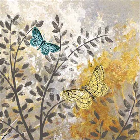 Botanical Butterfly Texture Painting Grey & Yellow Canvas Art by Pied Piper Creative](Face Painting Rainbow Butterfly)