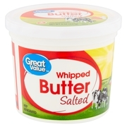 Great Value Salted Whipped Butter, 8 oz