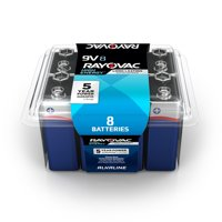 Rayovac High Energy Alkaline, 9V Batteries, 8 Count