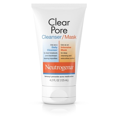 Neutrogena Clear Pore Facial Cleanser / Face Mask, 4.2 fl.