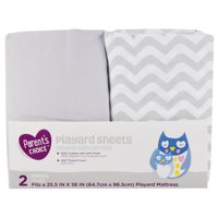 Parent's Choice Playard Sheets, Neutral, 2 Pack