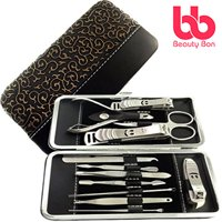 Manicure Pedicure Set Nail Clippers - 12 Piece Stainless Steel Hygiene Kit - Toenail Clippers Includes Cuticle Remover with Portable Travel Case Beauty Care Tools - Beauty Bon
