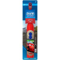Oral-B Kids Battery Powered Electric Toothbrush Featuring Disney and Pixar's Cars, Soft Bristles, For Children and Toddlers age 3+