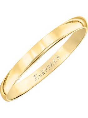 Keepsake 10kt Yellow Gold Wedding Band With High-Polish Finish, 2mm