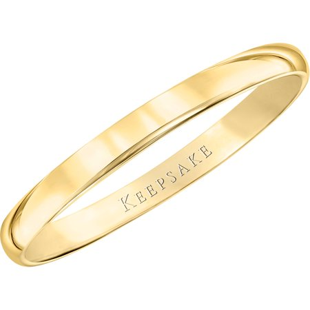 10kt Yellow Gold Wedding Band With High-Polish Finish, 2mm