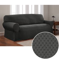 Mainstays Stretch Pixel 1 Piece Sofa Furniture Cover Slipcover