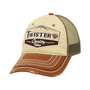 7490567e5cde8 m f western products 1516408 twister mens snap back logo patch cap - tan