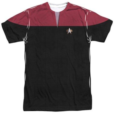 Star Trek Voyager Sci-Fi Action TV Series Red Shirt Adult 2-Sided Print T-Shirt](Star Trek Onesie Adult)