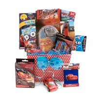 Valentine Gift Idea for Boys and Girls Ages 3 - 8 Boys Disney/Pixar Cars Themed 9 Items in 1 Basket