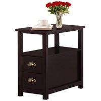 Topeakmart Parlor Furniture Chair Side End Table Snack Coffee Table with Drawer for Living Room