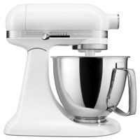 KitchenAid Artisan Mini 3.5 Quart Tilt-Head Stand Mixer, White (KSM3316XWH)