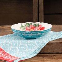 """The Pioneer Woman Vintage Floral 7.5"""" Teal Pasta Bowl"""