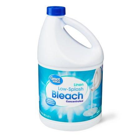 Great Value Low-Splash Concentrated Bleach, 121 fl oz - Value City.com