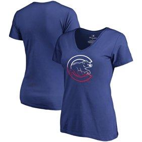 Chicago Cubs Fanatics Branded Women s Plus Size Gradient Logo T-Shirt -  Royal 3fe4f69701