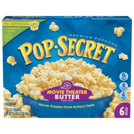 (4 Pack) Pop Secret Microwave Popcorn, Movie Theater Butter, 3.2 Oz, 6 Ct](Cute Popcorn)