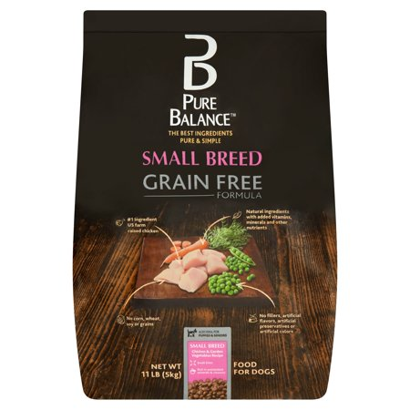 Pure Balance Small Breed Grain Free Formula Chicken & Garden Vegetables Recipe Food for Dogs, 11