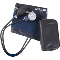 Mabis Blood Pressure Cuff with Aneroid Sphygmomanometer, Manual Blood Pressure Monitor with BP Cuff, Economy, Large, Adult