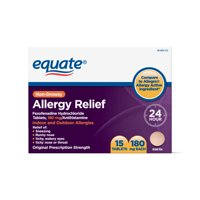 Equate Non-Drowsy Allergy Relief Tablets, 180 mg, 15 count