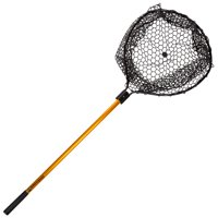 Retractable Rubber Landing Net - 35 Inch Handle by Wakeman Fishing