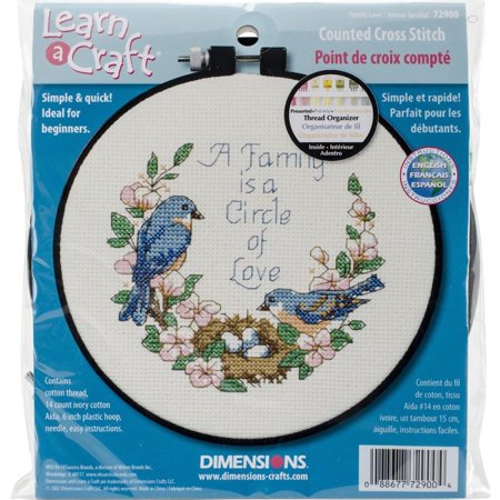 House Counted Cross Stitch - Dimensions Learn-A-Craft