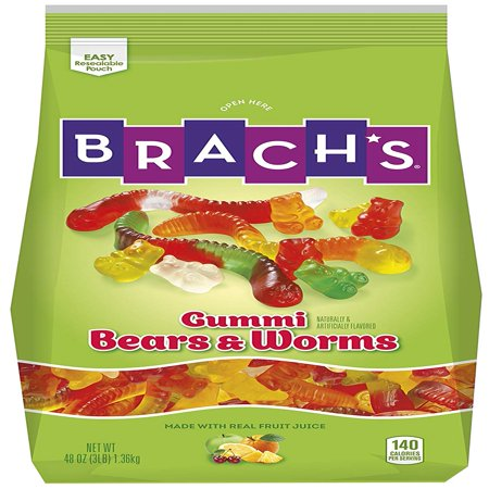 Brach's Wild N' Fruity Gummi Bears & Worms, 48 - Hasbro Gummy Bears
