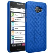Jitterbug Smart2 Case, Nakedcellphone Slim Ribbed Rubberized Hard Shell Cover [with Kickstand] for