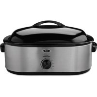 Oster 22 Lb. Roaster Oven with Removable 3-Bin Buffet Server, 18 Qt., Stainless Steel (CKSTRS18)