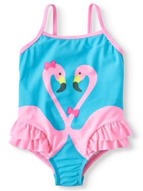 Flamingo 1piece Swimsuit with Ruffles (Toddler Girls)