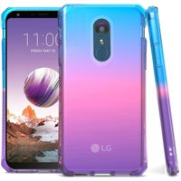 Bemz Shockproof TPU Slim Fit Protective Phone Cover Case and Atom Cloth for LG Stylo 4+ Plus/LG Stylo 4 (2018) - Blue/Pink/Purple